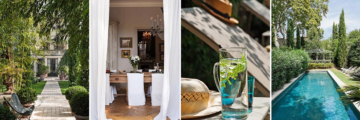 Article sur la Divine Comédie au cœur du centre historique d'Avignon- Luxe et beauté de cet hôtel particulier d'Avignon avec un spectaculaire jardin