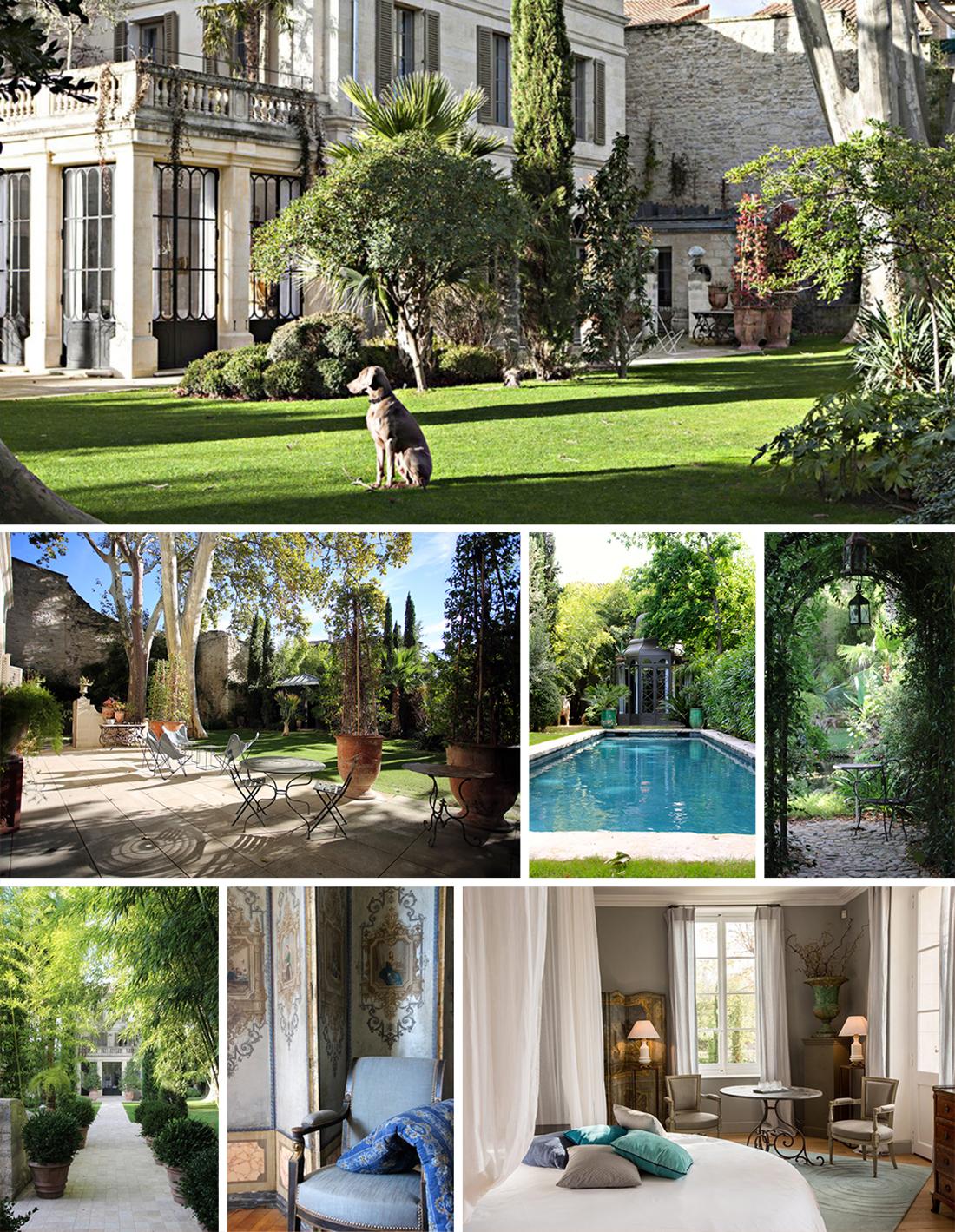 La Divine Comédie maison d'hôtes avec cinq suites Luxe jardin magique demeure Avignon Intra-Muros