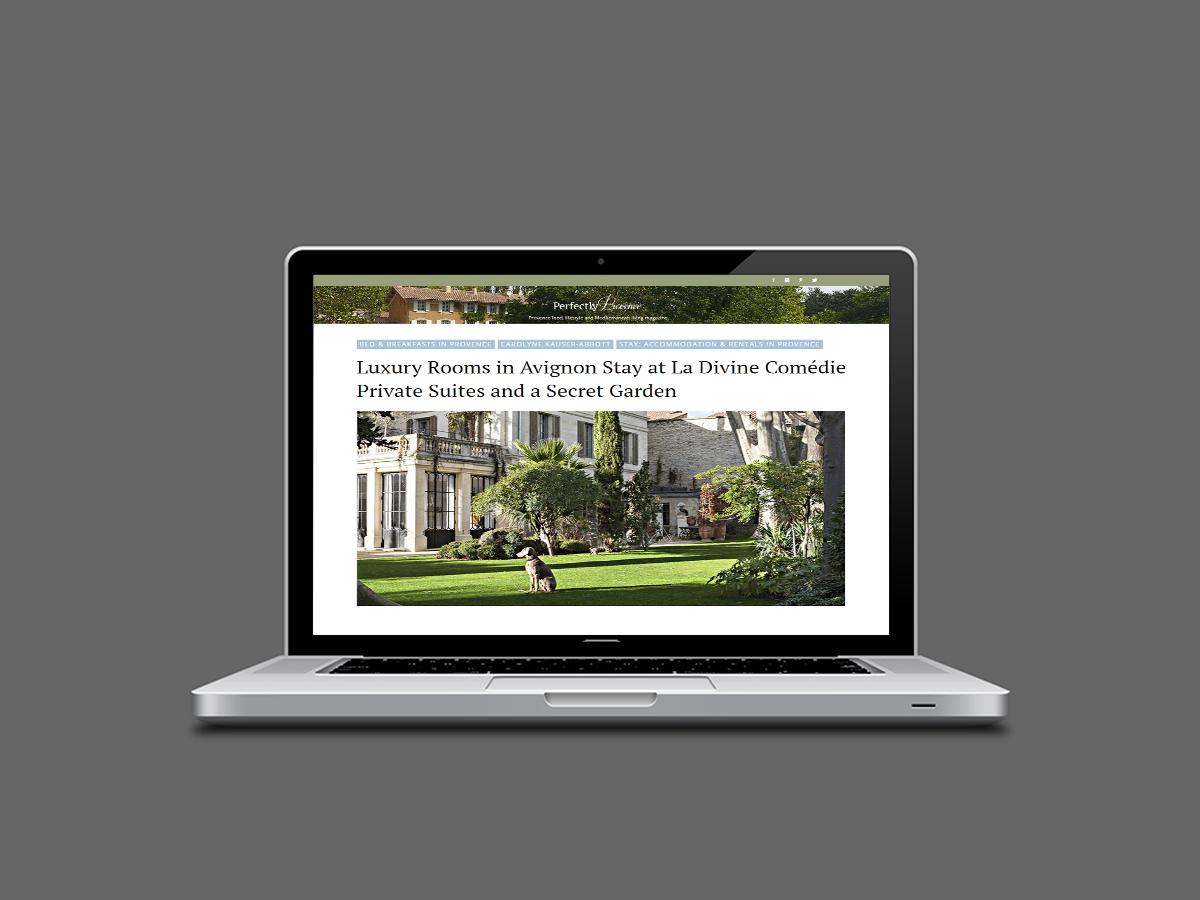 maison d'hôtes avec cinq suites Luxe jardin magique demeure Avignon Intra-Muros