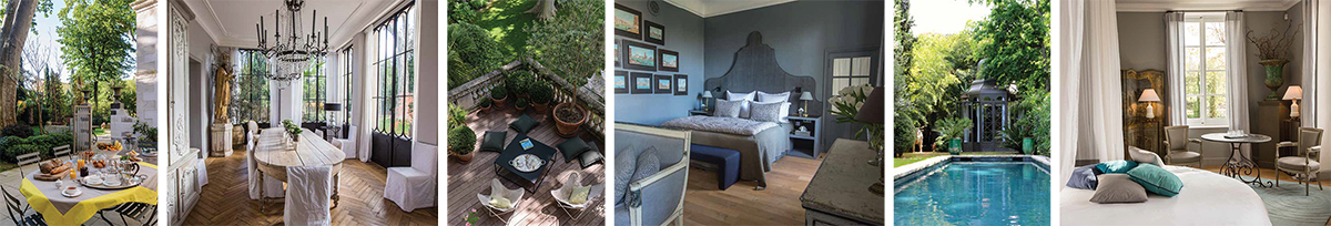 La Divine Comédie escapades en chambre d'hôtes hôtel particulier art de vivre en Provence jardin d'Avignon