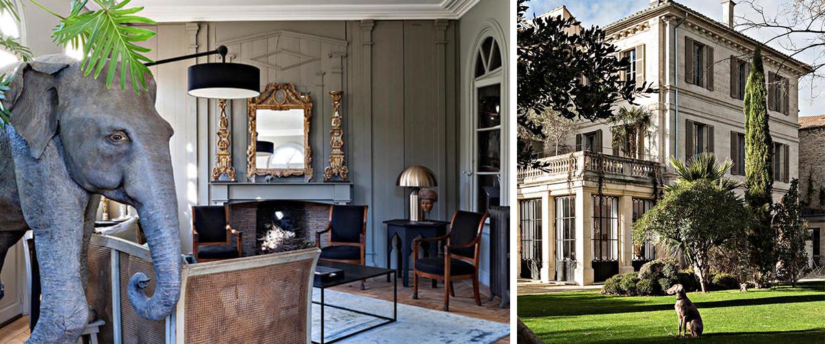 La Divine Comédie jardin privé espace bien-être demeure unique en Avignon maison d'hôtes